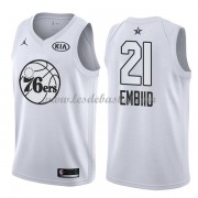 Maillot NBA Pas Cher Philadelphia 76ers Joel Embiid 21# White 2018 All Star Game Swingman..